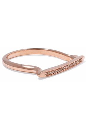 MONICA VINADER Skinny Stacking 18-karat rose gold-plated sterling silver diamond ring