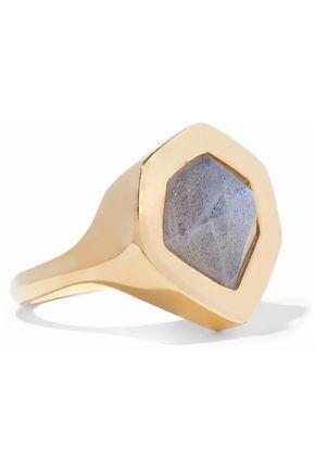 MONICA VINADER Petra 18-karat gold vermeil labradorite ring