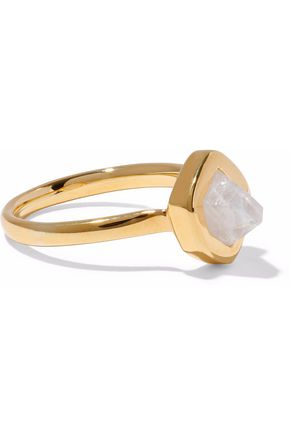 MONICA VINADER Petra Stacking 18-karat gold vermeil moonstone ring