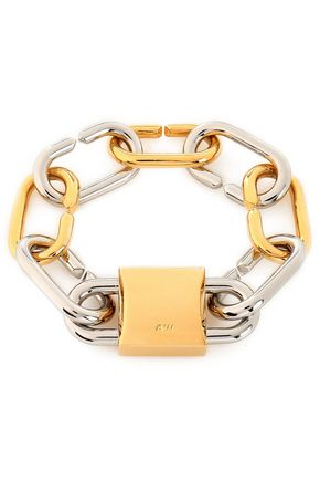 ALEXANDER WANG Gold and silver-plated chain bracelet