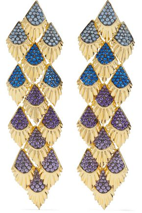 NOIR JEWELRY Gold-tone crystal earrings