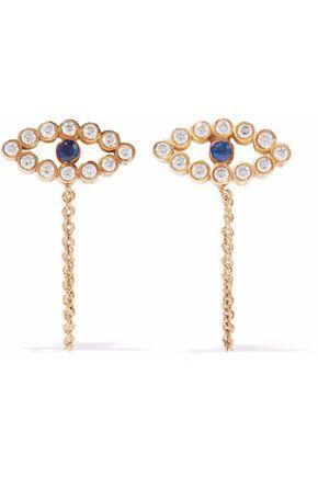 ILEANA MAKRI 18-karat gold, diamond and sapphire earrings