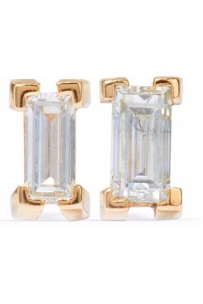 ILEANA MAKRI 18-karat gold diamond earrings