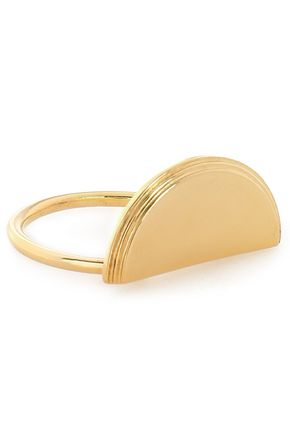 RACHEL JACKSON Half Moon gold-plated ring