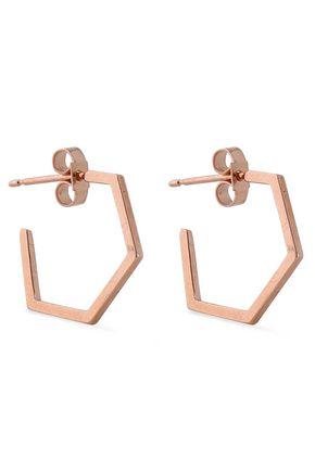 RACHEL JACKSON Serenity rose gold-plated hoop earrings