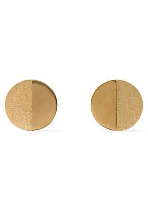 RACHEL JACKSON Lunar Moon gold-plated earrings