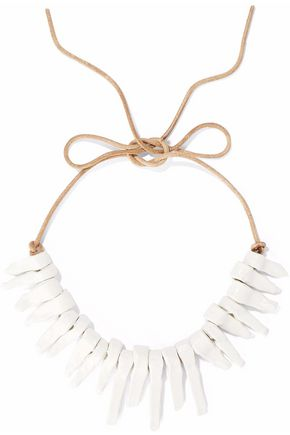 VALENTINO Coated cord and ceramic necklace