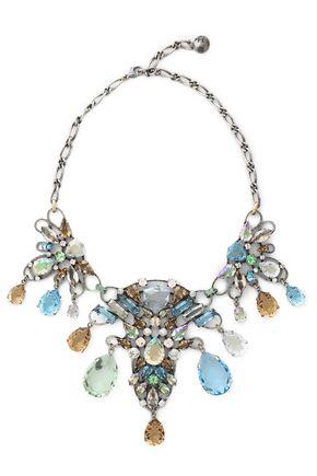 LANVIN Silver-tone crystal necklace