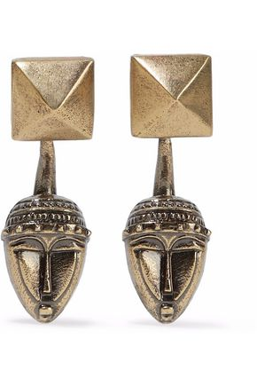VALENTINO GARAVANI Burnished gold-tone earrings
