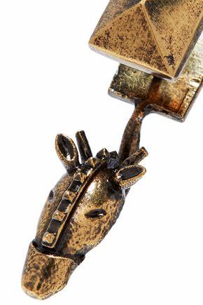 VALENTINO GARAVANI Burnished gold-tone earrings