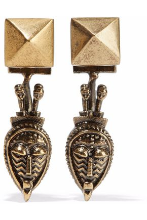 VALENTINO GARAVANI Rockstud gold-tone earrings
