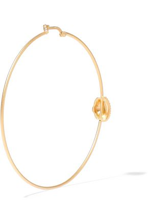 VALENTINO GARAVANI Gold-tone hoop earrings