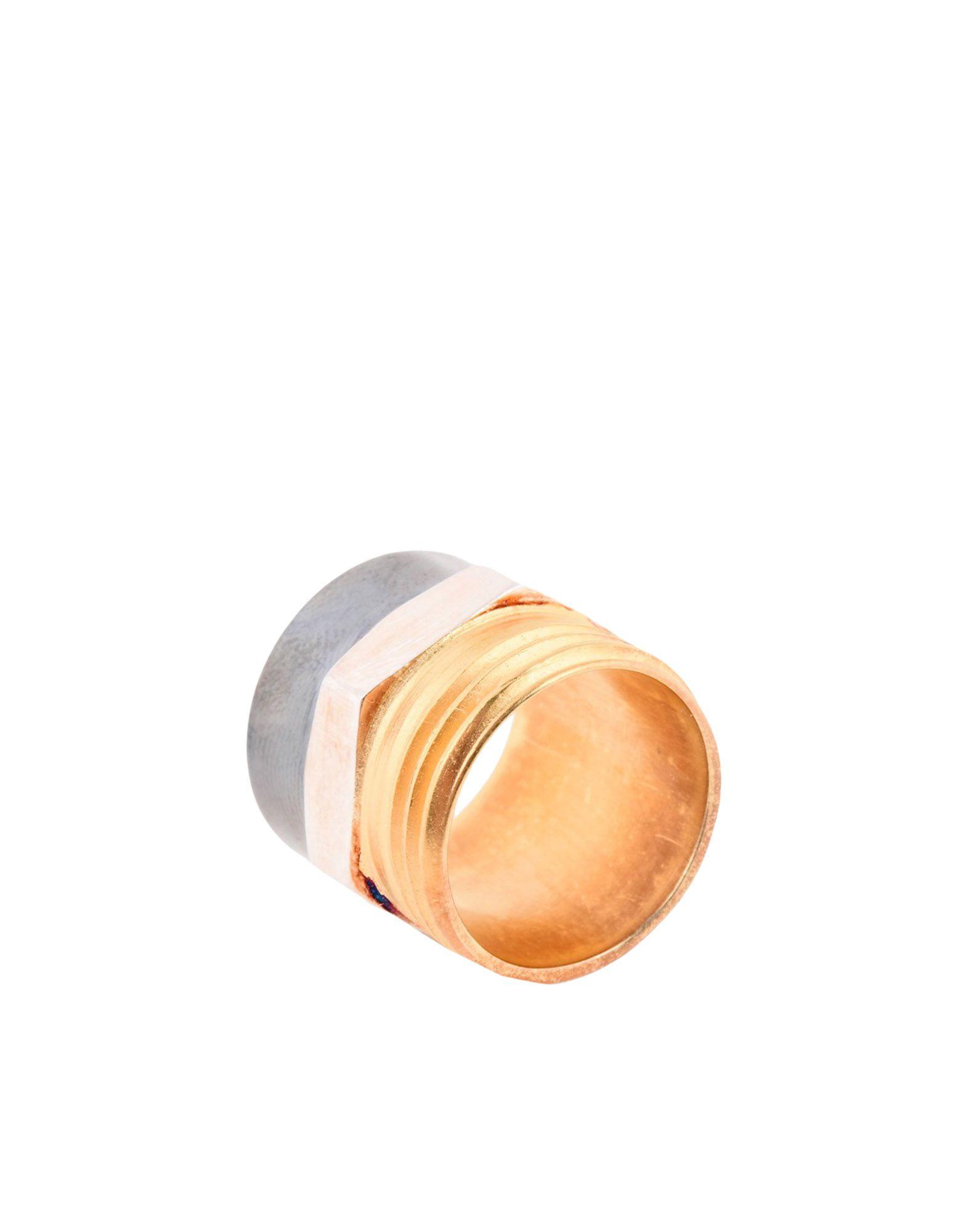 《セール開催中》MAISON MARGIELA レディース 指輪 ゴールド M 真鍮/ブラス 100%