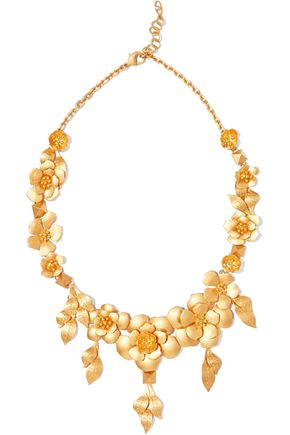 VALENTINO Lacquered brass necklace