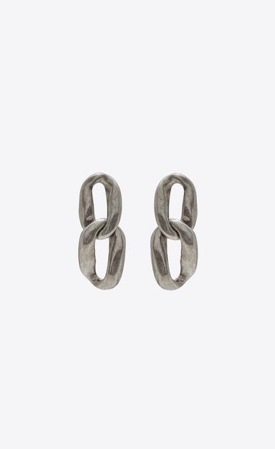 SAINT LAURENT Orecchini Donna Orecchini Chain-link in metallo argentato a_V4