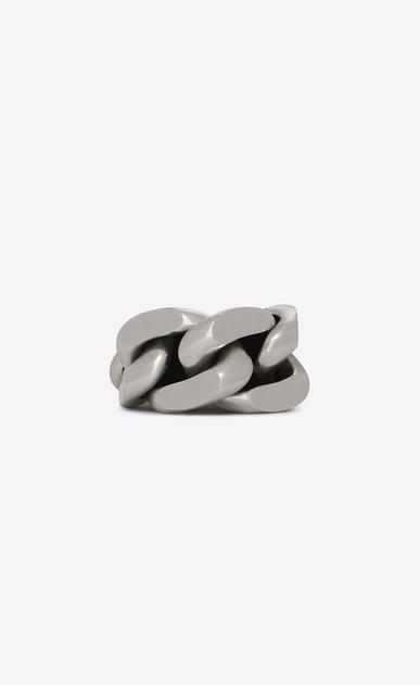 SAINT LAURENT Bracelets Woman Minimalist bracelet in silver metal a_V4