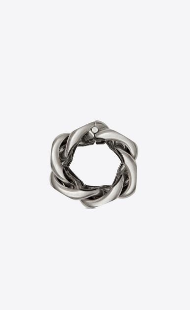 SAINT LAURENT Bracelets Woman Minimalist bracelet in silver metal b_V4