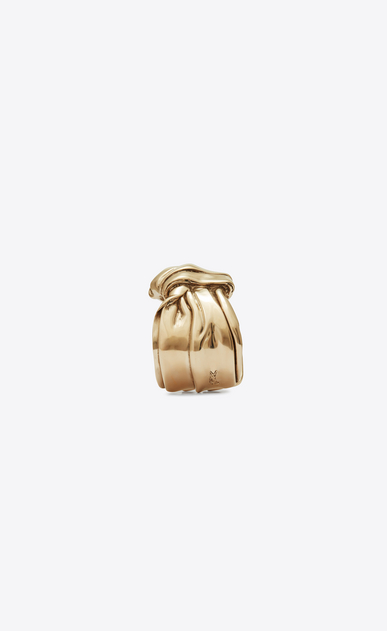 SAINT LAURENT Bracelets Woman Draped bow cuff bracelet in light gold metal b_V4