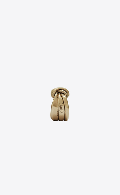 SAINT LAURENT Rings Woman Draped bow ring in light gold metal b_V4