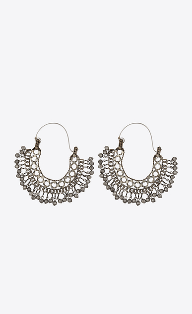 SAINT LAURENT Earrings Woman Folk earrings with bells in silver metal a_V4