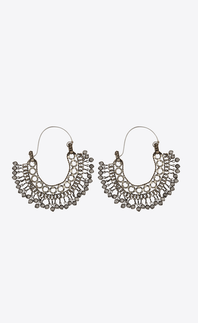 SAINT LAURENT Earrings Woman Folk earrings with bells in silver metal b_V4