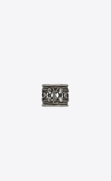 SAINT LAURENT Rings Woman Folk ring in silver metal a_V4