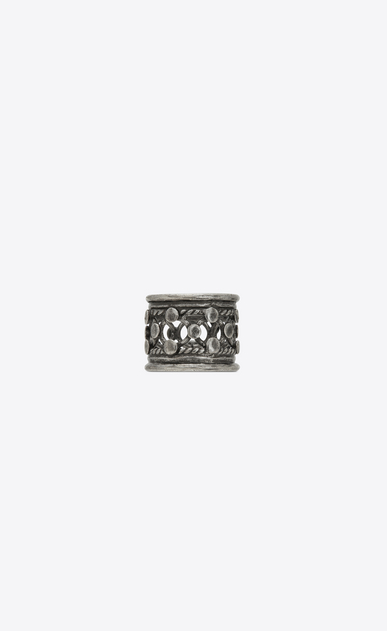 SAINT LAURENT Rings Woman Folk ring in silver metal b_V4
