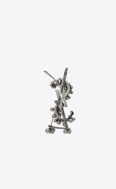 SAINT LAURENT Brooch Woman YSL Folk brooch with bells in silver metal. b_V4