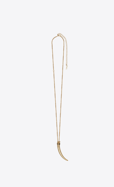 SAINT LAURENT Short Necklaces Woman Horn Folk pendant in gold metal b_V4