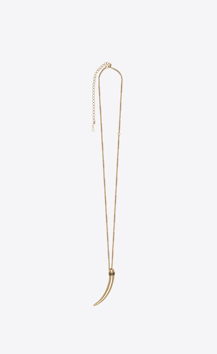 Pendentif corne FOLK en métal doré