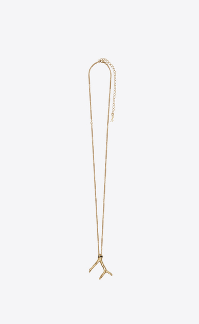 SAINT LAURENT Short Necklaces Woman Coral Charms pendant in light gold metal b_V4
