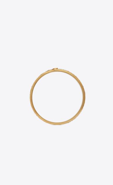 SAINT LAURENT Bracelets Donna Bracciale Animalier sottile in metallo dorato e pelle di vitello effetto leopardo b_V4
