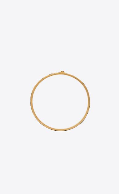SAINT LAURENT Bracelets Donna Bracciale Animalier sottile in metallo dorato e pelle di vitello effetto tigre b_V4