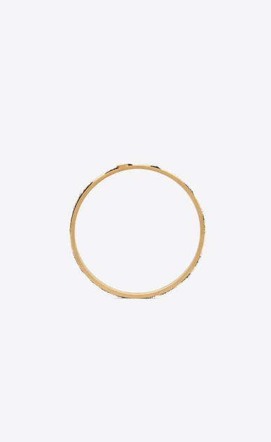 SAINT LAURENT Bracelets Donna Bracciale Animalier sottile in metallo dorato e pelle di vitello effetto zebra b_V4