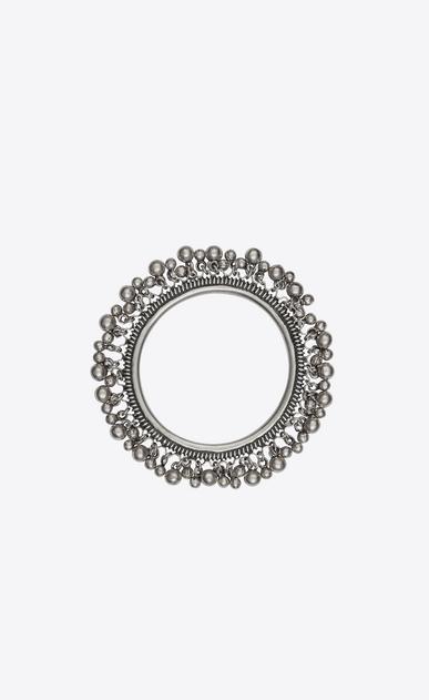 SAINT LAURENT Bracelets Woman YSL folk bracelet with bells in silver metal. b_V4