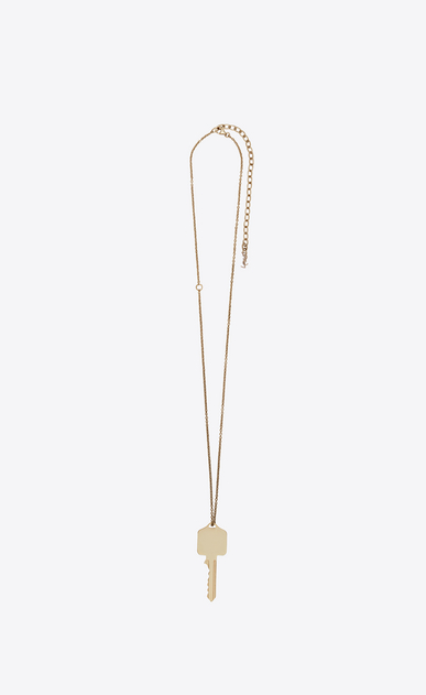 SAINT LAURENT Short Necklaces Woman Charms pendant in light gold metal b_V4