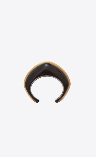 SAINT LAURENT Bracelets Donna Bracciale a polsino in legno marrone e metallo dorato b_V4