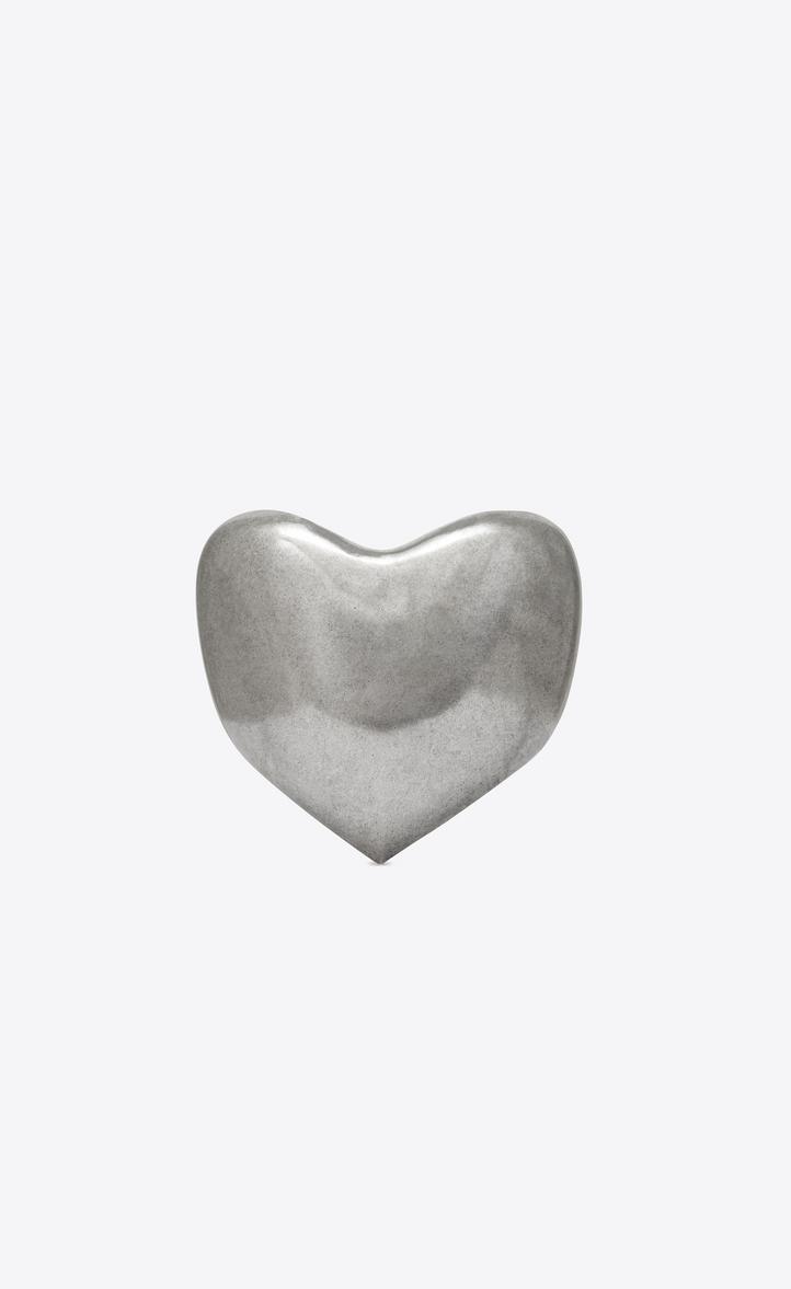 Bracelet cœur LOVE en métal argenté