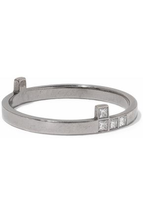 ILEANA MAKRI Oxidized 18-karat white gold diamond ring