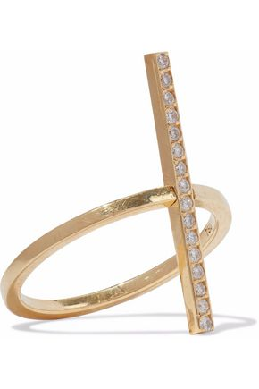 ILEANA MAKRI 18-karat gold diamond ring