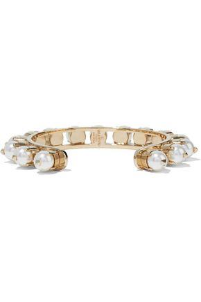 VALENTINO GARAVANI Gold-tone faux pearl bracelet
