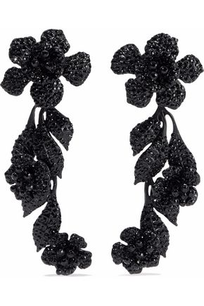 VALENTINO GARAVANI Crystal-embellished coated acrylic earrings