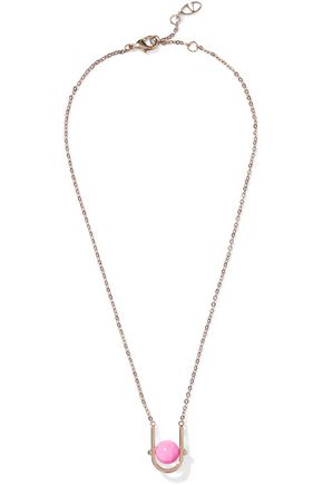 VALENTINO GARAVANI Gold-tone beaded necklace