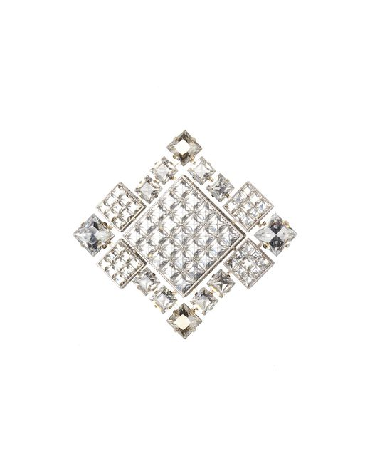 BROCHE/COLLIER « DIAMOND SQUARE » CRISTAL - Lanvin