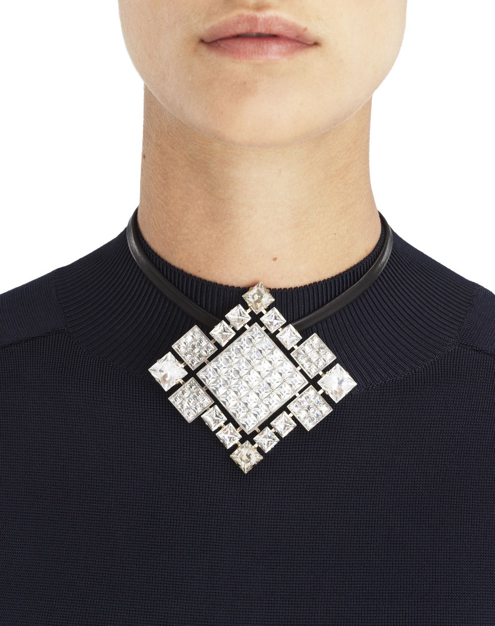 "CRYSTAL ""DIAMOND SQUARE"" BROOCH/NECKLACE - Lanvin"