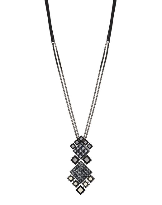 COLLIER « DIAMOND SQUARE » NOIR - Lanvin