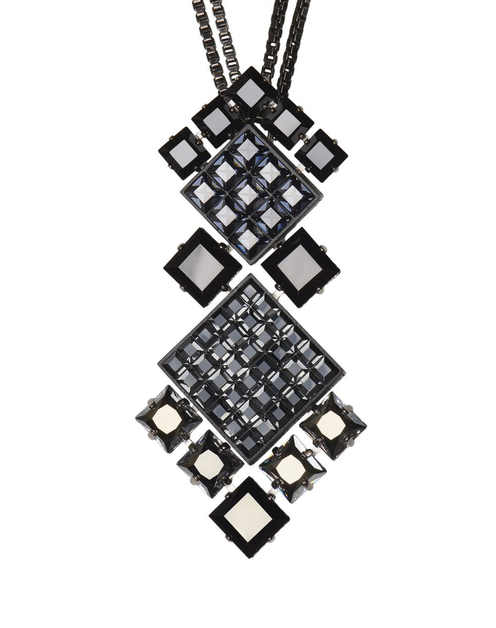 "BLACK ""DIAMOND SQUARE"" NECKLACE - Lanvin"