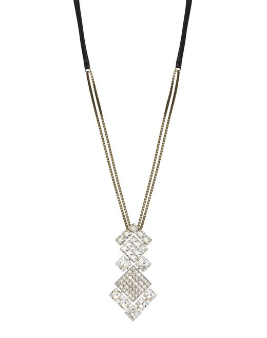 "CRYSTAL ""DIAMOND SQUARE"" NECKLACE - Lanvin"