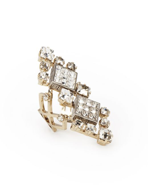 "CRYSTAL ""DIAMOND SQUARE"" RING - Lanvin"