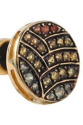 ILEANA MAKRI Gold-tone crystal earrings